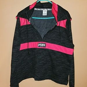 SOLD - VS Pink Hooded Pullover - Size Lg